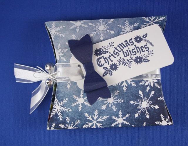 kerstdoosje blauw
