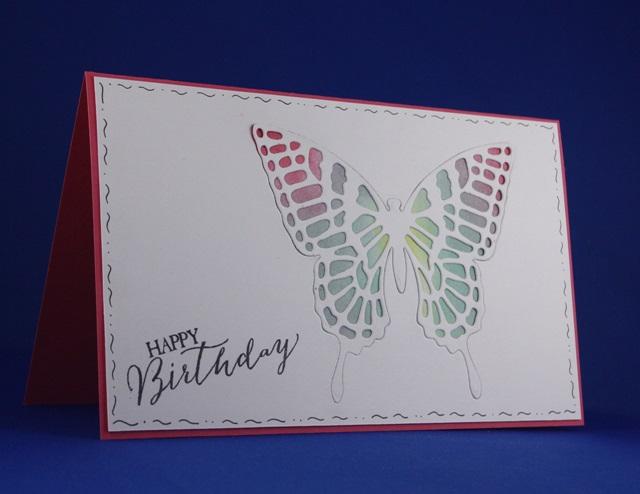 verjaardagskaart vlinder